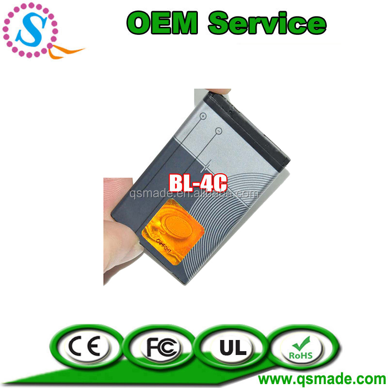 high quality mobile phone battery BL-4C for nokia 6300 6100 X2 6101 2220s 2690 7200