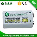 Geilienergy 9V 480mAH Lithum-ion Rechargeable Battery Pack For RC Toy