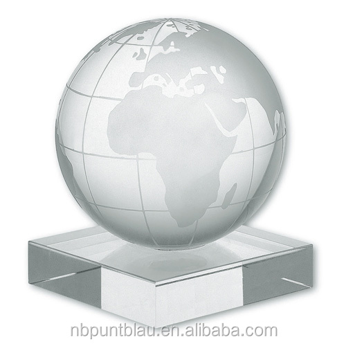 laser engraving 3D globe crystal paper weight