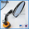 Top Quality Aluminum Universal Bar end Mirror for Motorcycle ,100% Quality Good Bar End Motorcycle Driving Mirror