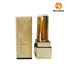 ABS lipstick stick your own brand makeup cosmetic gold square lipstick tube packaging container