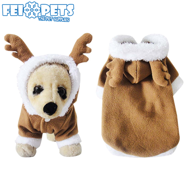 New Arrival Pet Christmas Costume Hot Dog Moose Pattern Heated Coats Dog Clothes