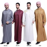 Low MOQ thobe designer mens jubba and thobe for muslims brothers men abaya in dubai jubba for islamic men islamic kaftan