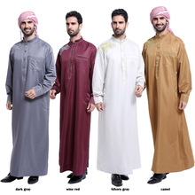 Low MOQ thobe designer mens jubba and thobe for muslims brothers men abaya in dubai jubba for islamic men islamic kaftan