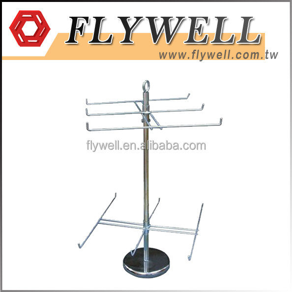 Countertop Rotating Wire Display Stand with Hooks