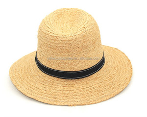 Summer Straw Hat Promotional Panama Popularity Fedora hat Top Quality Most Popular Promotional Straw Panama Hat