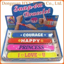HXY wholesale slap bracelet snap bracelet ruler