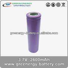 18650 lithium-ion battery ICR18650H2 3.7v 2600mah high power battery