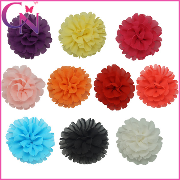 High Quality Boutique Shabby Chiffon Flowers Hair Bow Hearwear With Clip For Girs (CNHB-1311634)