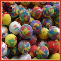 Led flashing bouncing ball with multi-color light aerial ball eva foam cutting