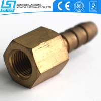 Manufacturing copper connector nipple hydraulic hose fitting for water