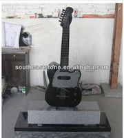 Absolute Black Granite Guitar Headstones/Monuments