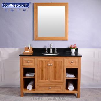 Hot Sale Large Space Classical 48 Inch Bamboo Bathroom Vanities/Cabinets