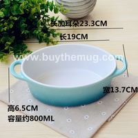 Oval Ceramic Baking Dishes Bake Bowl Western Soup Bowl Souffle Mould Cup Bakeware 4725