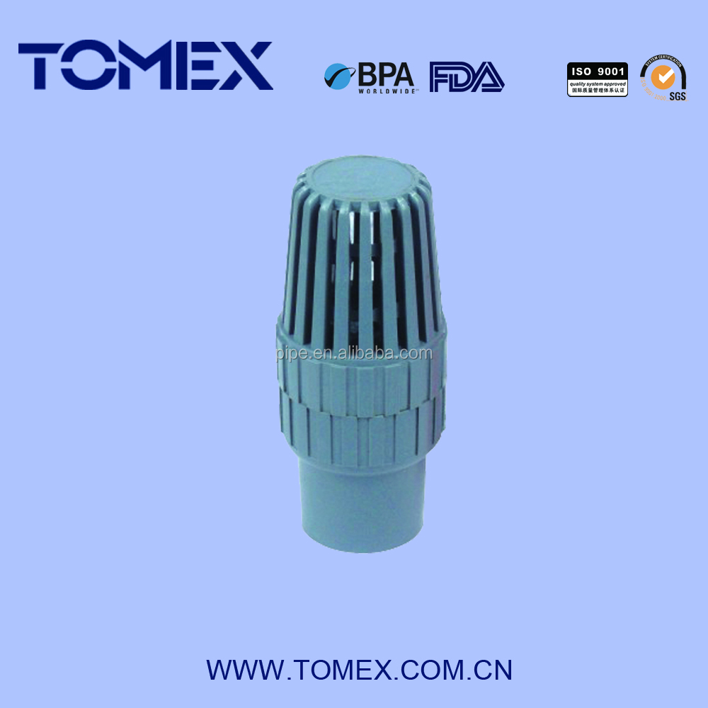 High quality plastic pvc foot valve with strainer buy