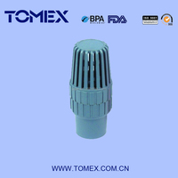 high quality plastic pvc foot valve with strainer