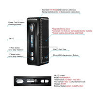 Joecig wholesale newest 18650 box mod 70W T-rex TC box mod with high rate 18650 battery and luxury leather pack