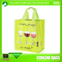wine design printed carrier bag pp