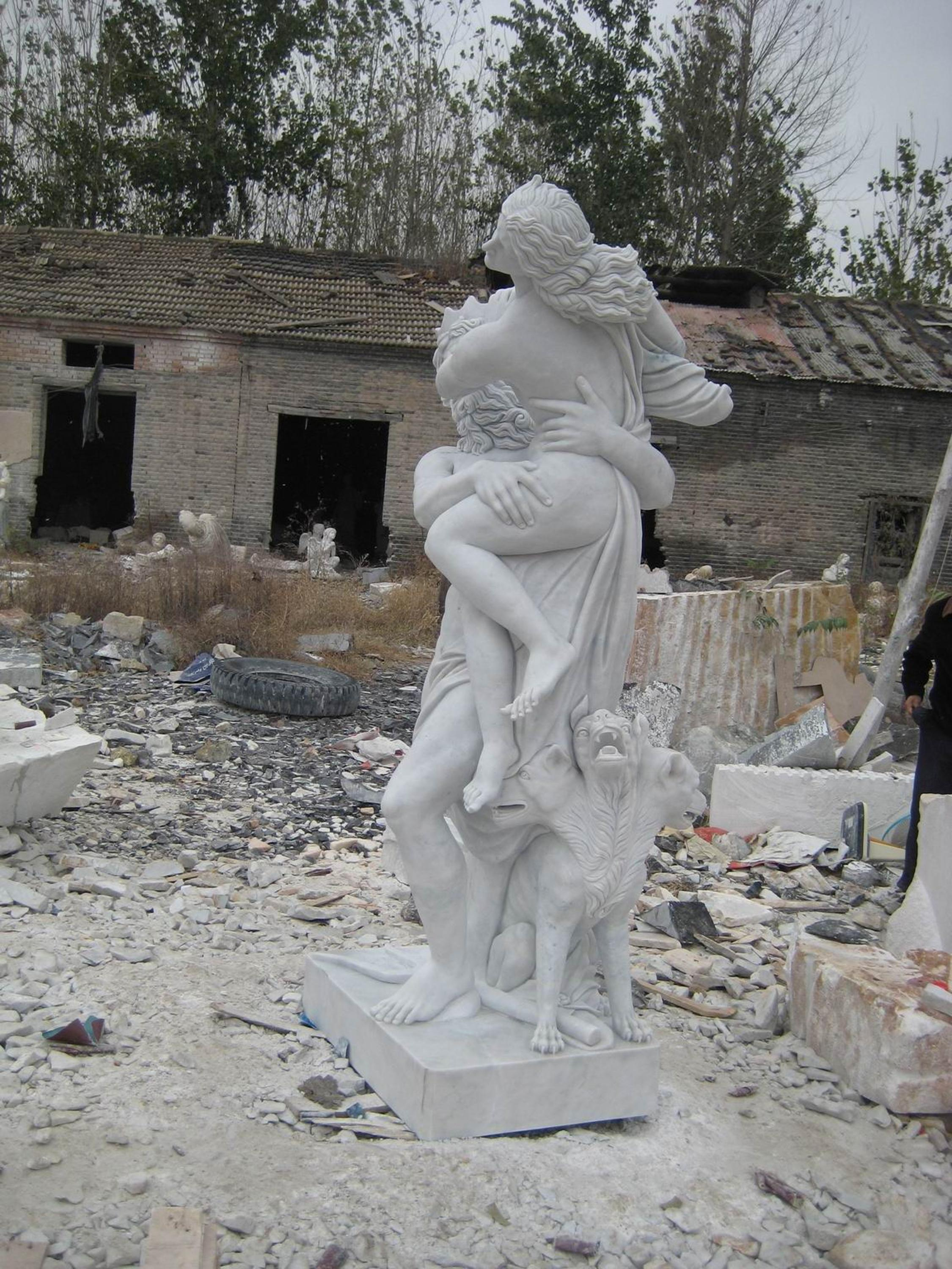 Famous Marble Nude Woman Sex with Man Statue Sculpture