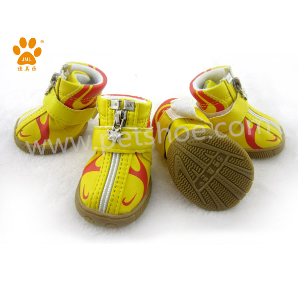 JML PU leather fabric pet dog shoes sneakers for medium dogs