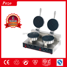 RY-2 Table Counter Top Dual Round Head Stainless Steel Automatic Electric Commercial Waffle Baker
