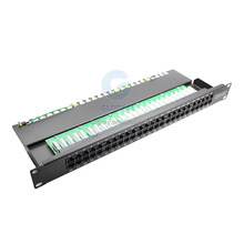 Good quality 19 Inch UTP cat3 50 port telephone connected patch panel