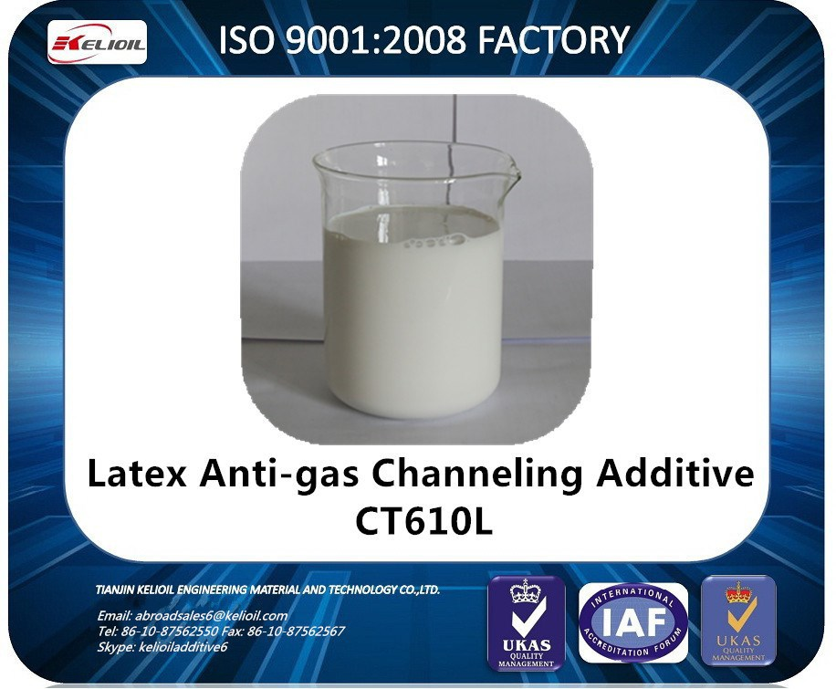 OIL WELL CEMENTING CHEMICAL CT610L SALT RESISTANT ANTI-GAS MIGRATION ADDTIVE