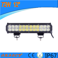 super bright 12'' 72w led bar light, high quality 72w led light bar made in china