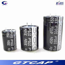 Price list of 330uf 200v aluminum electrolytic capacitor