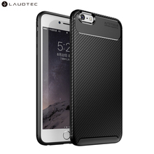 Laudtec New Carbon Fiber Silicone Tpu Back Cover Case For <strong>iPhone</strong> 6Plus 6S Plus