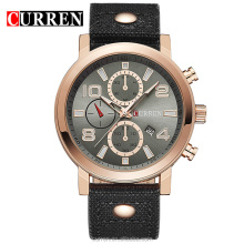 Relojes Curren 8199 Men's Sports Quartz Watches Top Brand Luxury Leather Wristwatches Relogio Men Curren Watches