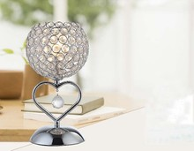 chinese home goods decorative crystal heart shape table light lamps
