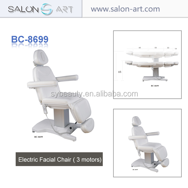 2015 New spa use beauty salon chair folding electric facial bed