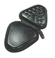 GC--New selling Fashion Black PU tri-angle size EVA earwax box