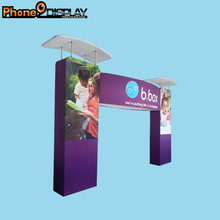 Fashion customized portable aluminium cosmetics trade show exhibition booth