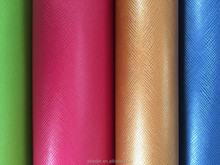 Pu material leather with nonwoven fabric for notebook cover or jeans leabel