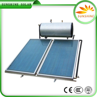 Pressurized Hot Water System Black Chrome Copper Pipe Flat Plate Pressureized Solar Hot Water System