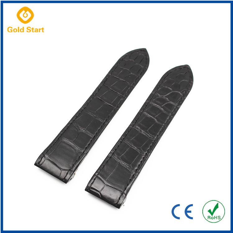 Hotsale Black Leather Watch Bands Two Piece