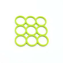 Kitchen utensil 9 circles heat resistant silicone baking mat,multi function tableware silicone mat