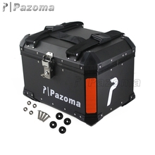 Pazoma Factory Price High Quality Aluminum Black Motorcycle Rear Luggage Box Top Boxes For Sale