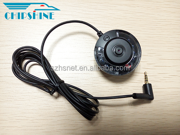 Infrared night vision and microphone hole button size camera