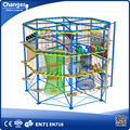 Top quality kids play center outdoor climbing system , rope course adventure for sale