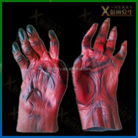 X-MERRY Red Zombie Gloves Halloween Prop Party/Carnival Theater Decor/Toy Setting Scary Mood Prop
