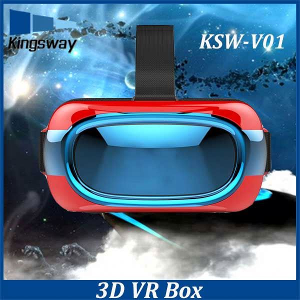 High Tech 2016 Google quad core V01 VR Headset Glass 2nd Generation 3D VR Box With Remote Controls