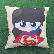 Customize Pillow Cases Cute Printed 17'' Cotton Linen pillows Car Sofa Decor Pillow Case Cushion Cover Pillowcase CT-N001