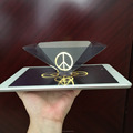 Smartphone projected 3d Holographic Display Pyramid Transparent Holographic Film Projector for tablet