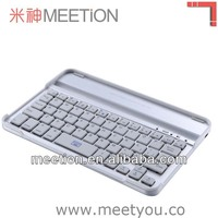 new design aluminum wireless bluetooth keyboard for ipad mini/ipad mini 2