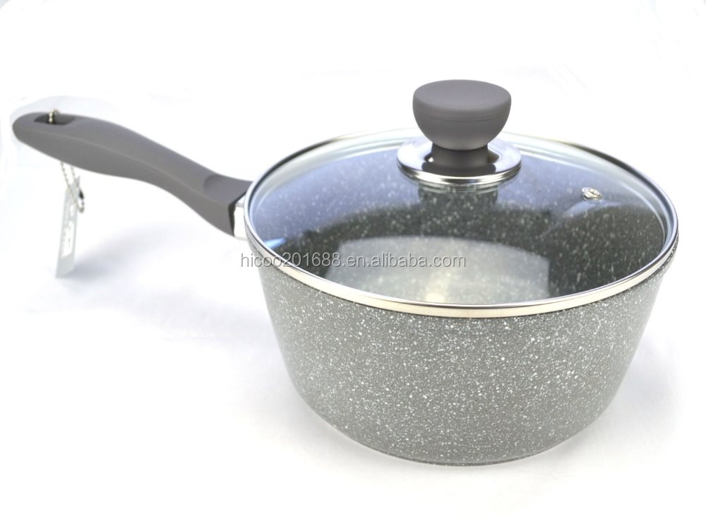 Forged Aluminium Granite Stone Coating Sauce Pan
