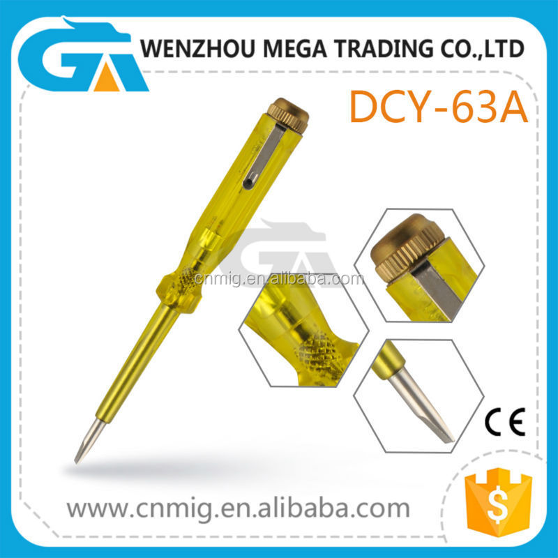High Quality Manufacture Electrical Test Screwdriver Insulated Voltage Tester