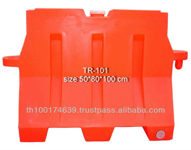 Safety plastic road barrier